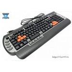 Клавиатура A4 G800V черный USB Multimedia Gamer